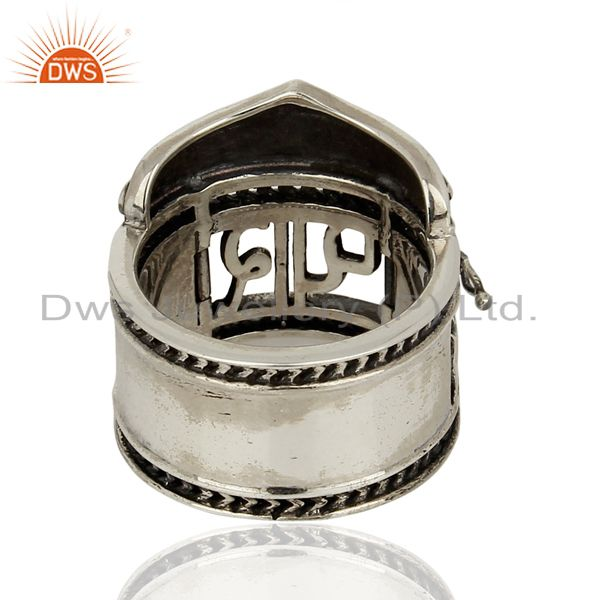 Wholesalers 925 Silver Oxidized Antique Designer Wedding Rings Jewelry Supplier
