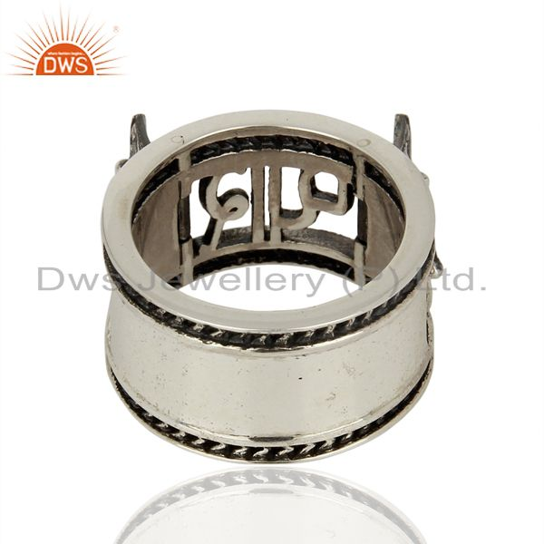Wholesalers Handmade Oxidized Antique Silver Engagement Rings Manufacturer
