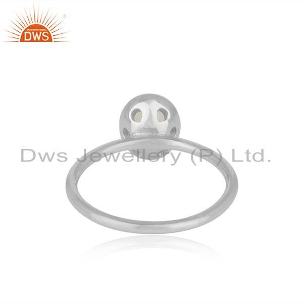 Wholesalers Rainbow Moonstone Man Made Sterling Fine Silver Girls Rings Supplier