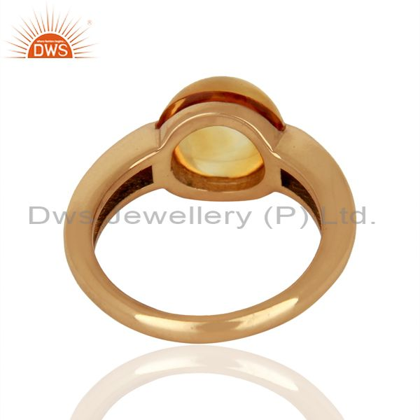 Wholesalers Citrine Eye of the Beholder Tension Sterling Silver Rose Gold Plated  Rings