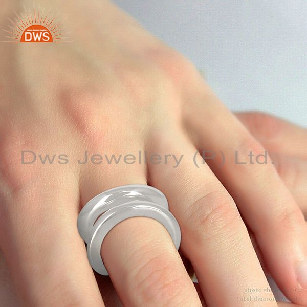 Wholesalers Lima Style Handmade Solid Sterling Silver Plain Stackable Ring Jewellery