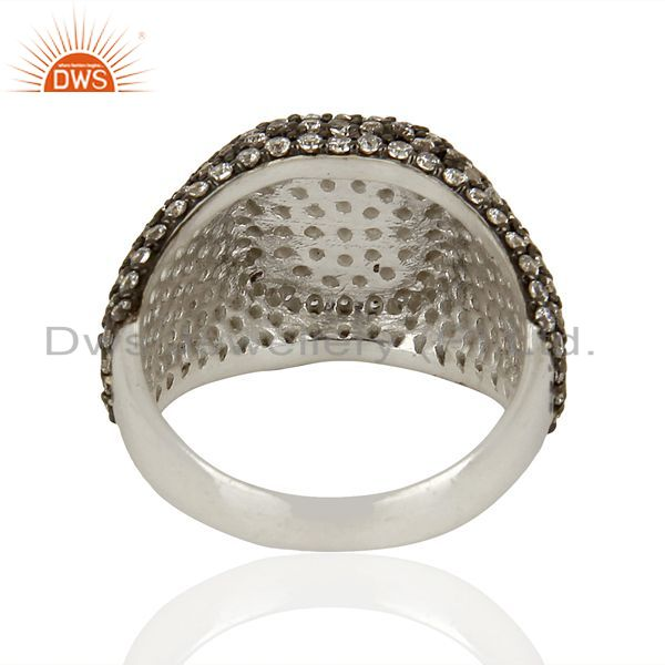 Wholesalers Handmade Sterling Fine Silver Cz Gemstone Rings Supplier Manufacturer