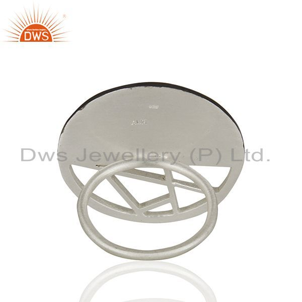 Wholesalers Handmade Solid Sterling 925 Silver Multi Colour Cocktail Ring Supplier