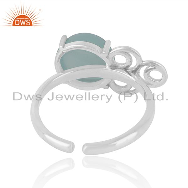 Designers of Solid 925 sterling silver chalcedony gemstone rings manufacturers