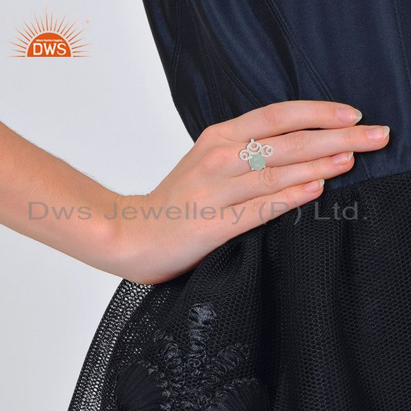 Designers of New designer 925 silver chalcedony gemstone rings wholesale