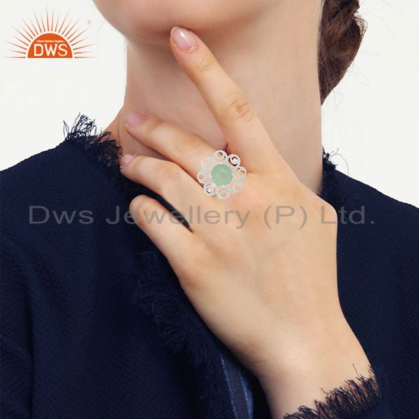 Designers of 925 silver cocktail gemstone rings custom jewelry manufacturer