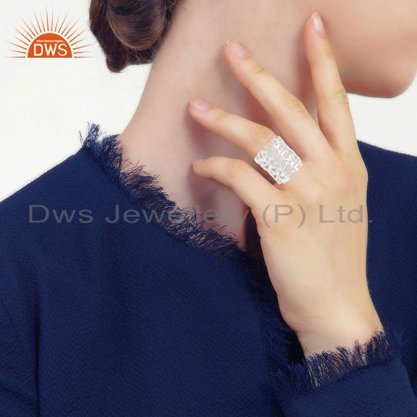 Wholesalers Designer 925 Sterling Silver Promise Band Rings Jewelry Wholesale