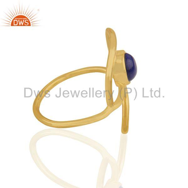 Wholesalers 2017 New Evil Eye Design Gold Plated 925 Silver Gemstone Ring Supplier