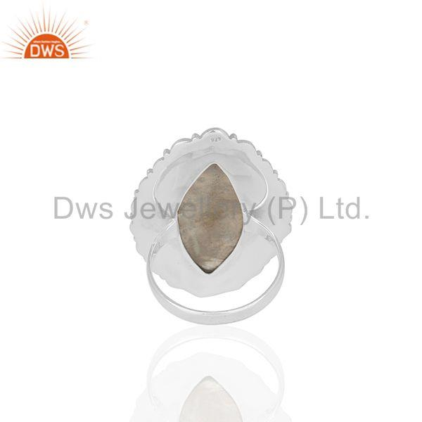 Wholesalers Rainbow Moonstone Oxidized 925 Silver Custom Ring Manufacturer from India
