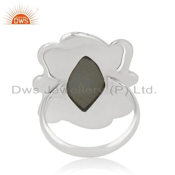 Wholesalers Aquamarine Wholesale Designer Silver Oxidized Ring Jewelry