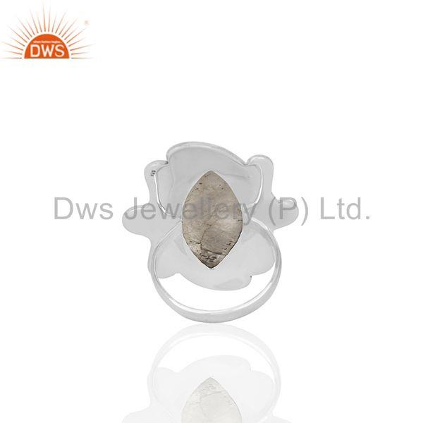 Wholesalers Oxidized 925 Silver Rainbow Moonstone Womens Rings Custom Jewelry Manufacturer