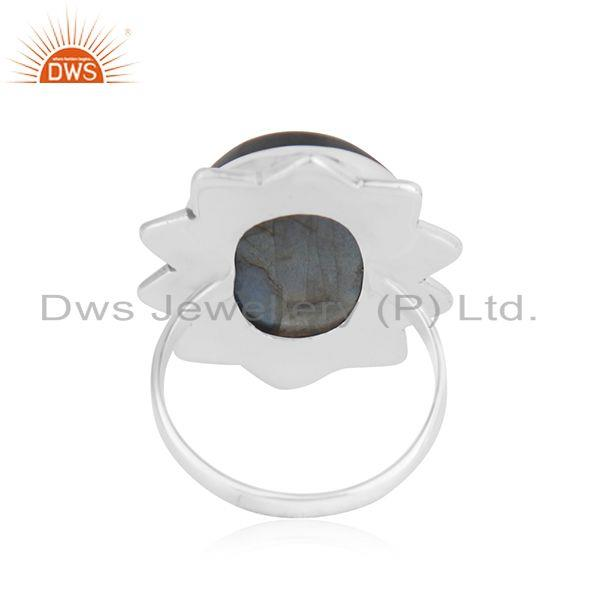 Wholesalers Labradorite Gemstone 925 Silver Genuine Ring Jewelry Manufacutrer INdia