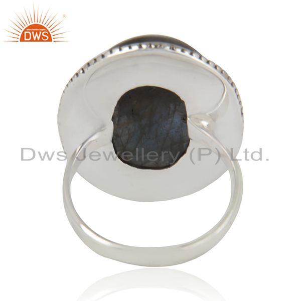 Wholesalers Labradorite Gemstone Oxidized Sterling 925 Silver Cocktail Ring Manufacturer