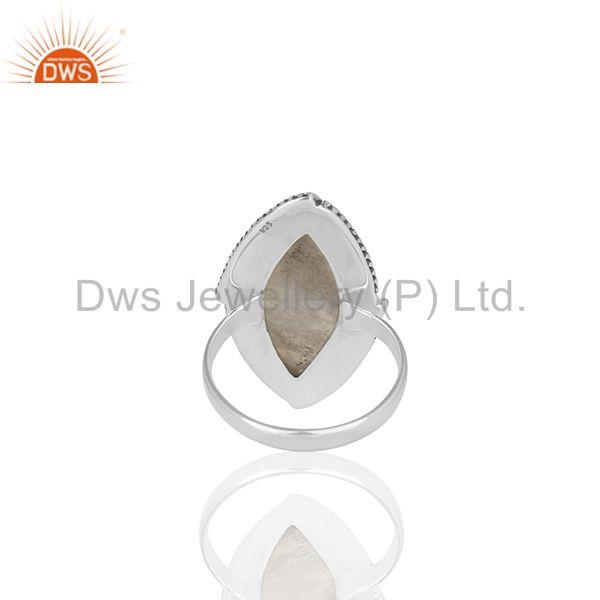 Wholesalers Rainbow Moonstone 925 Silver Oxidized Antique Ring Jewelry Wholesale