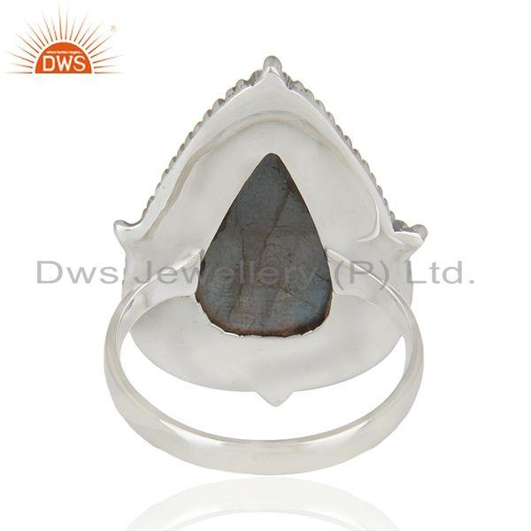 Wholesalers Labradorite Gemstone Oxidized 925 Sterling Silver Statement Ring Manufacturer