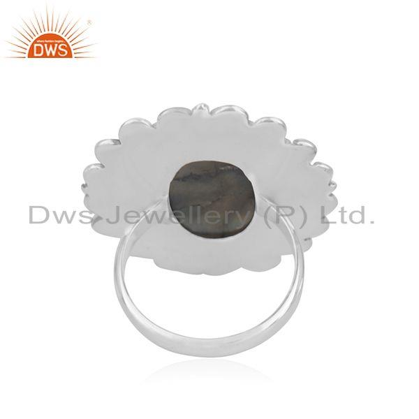 Wholesalers Designer Oxidized Sterling Silver Labradorite Gemstone Cocktail Ring Wholesaler
