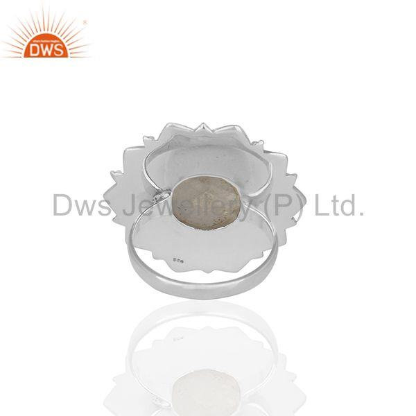 Wholesalers Designer 925 Silver Rainbow Moonstone Cocktail Customized Ring Manufacturer