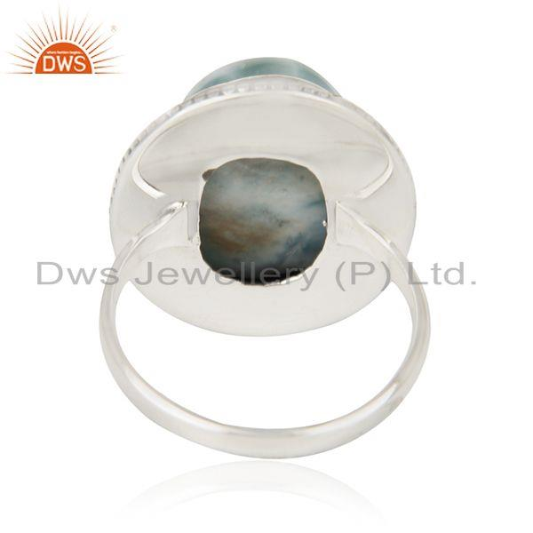 Wholesalers Larimar Gemstone 925 Sterling Silver Cocktail Ring Manufacturer Jaipur