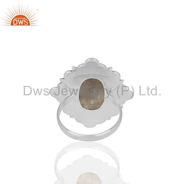 Wholesalers Wholesale 925 Silver Oxidized Rainbow Moonstone Girls Ring Jewelry Manufacturer