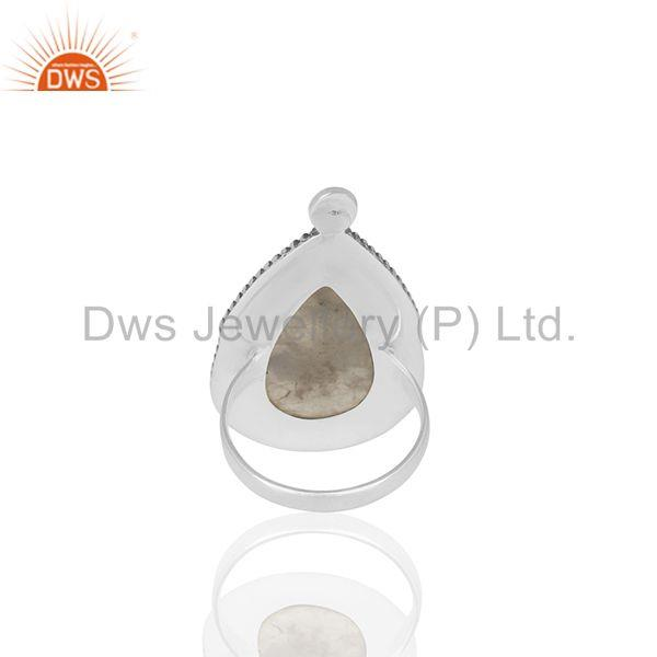 Wholesalers Rainbow Moonstone Oxidized 925 Silver Women Ring Manufacturers