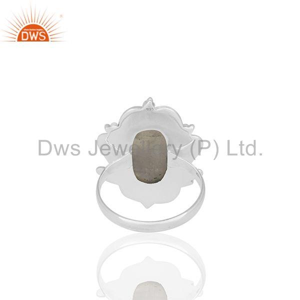 Wholesalers Rainbow Moonstone Oxidized Sterling 92.5 Silver Ring Manufacturer from India