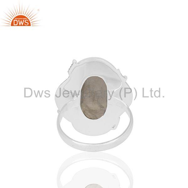 Wholesalers Oxidized 925 Sterling Silver Moonstone Customized Ring Jewelry Manufacturer