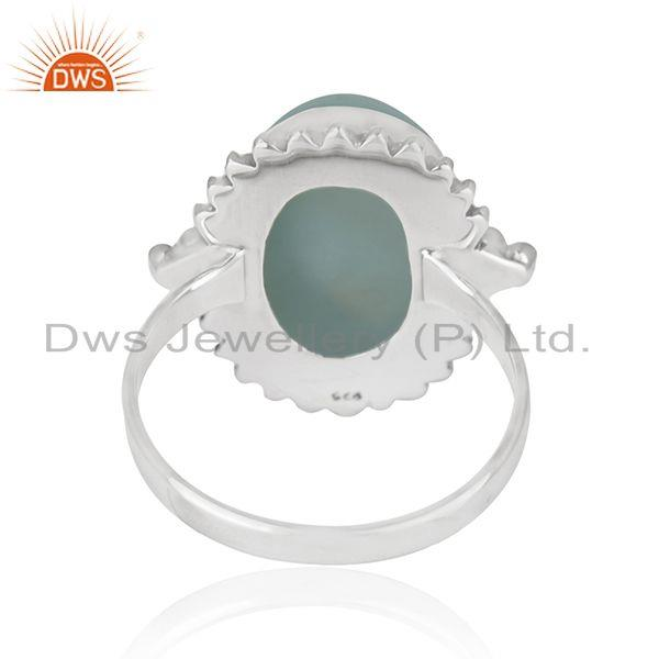 Wholesalers Larimar Gemstone 92.5 Sterling Silver Designer Ring Manufacturer