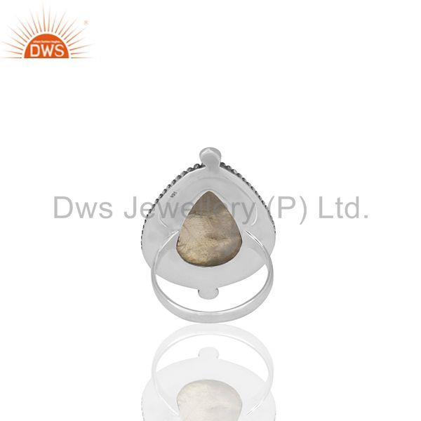 Wholesalers Indian Handmade 925 Sterling Silver Moonstone Designer Rings Supplier from India