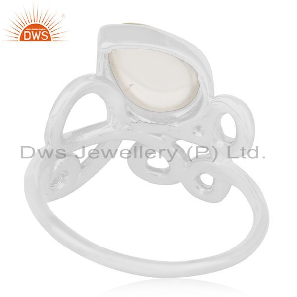 Wholesalers Crystal Quartz Designer Sterling Silver Gemstone Ring Manufacturer
