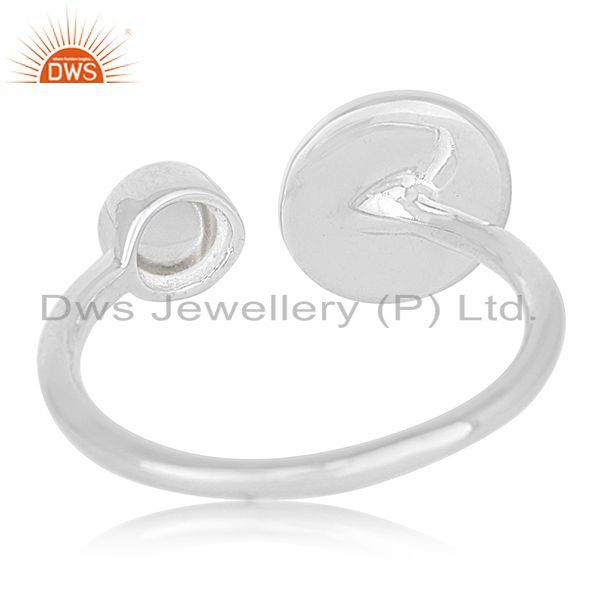Wholesalers 2017 New Design 925 Silver Crystal Adjustable Ring Wholesale Wholesalers