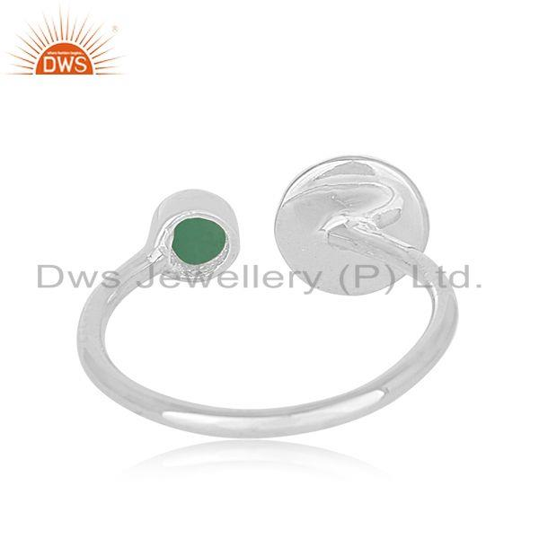Wholesalers Green Onyx Gemstone Handmade 925 Sterling Fine Silver Girls Ring Manufacturer