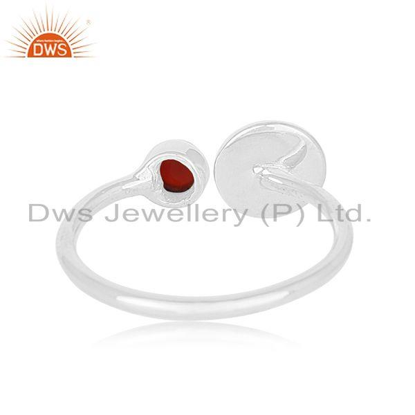 Wholesalers Green Onyx Gemstone 925 Sterling Fine Silver Women Promise Ring Wholesale Jaipur
