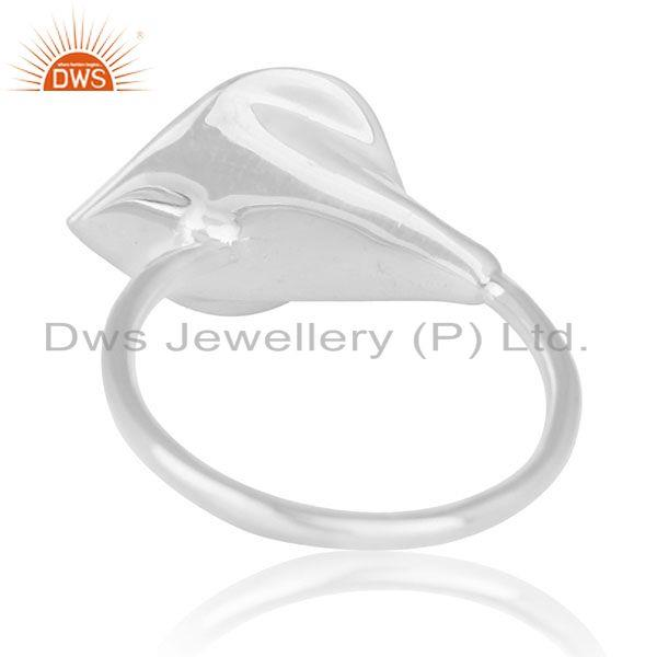 Wholesalers Blue Chalcedony Gemstone Floral Design Sterling Silver Custom Ring Wholesale