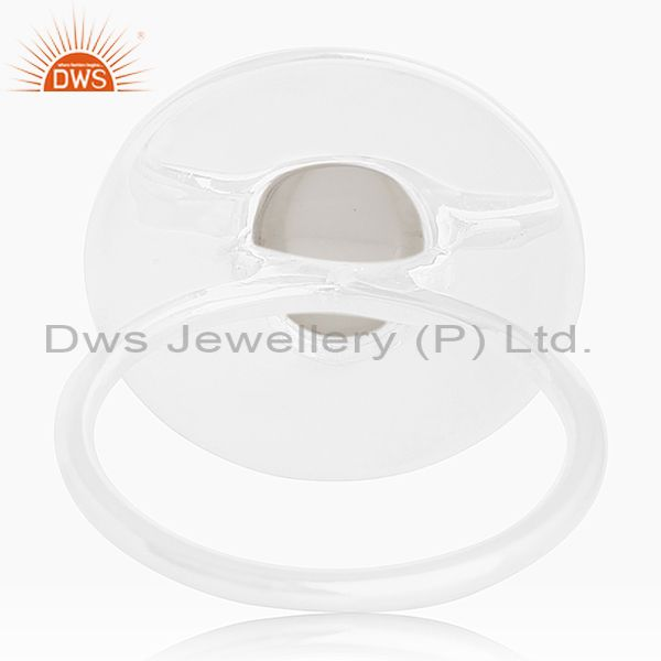 Wholesalers Hancrafted 925 Silver Crystal Quartz Cocktail Ring Manufacturer