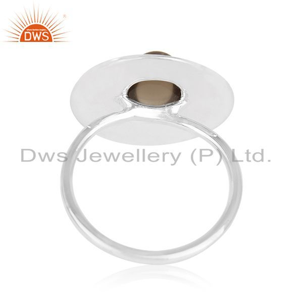 Wholesalers Designer 925 Sterling Silver Smoky Quartz Cocktail Ring For Womens