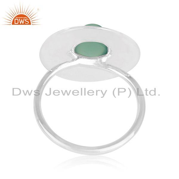 Wholesalers Green Onyx Gemstone 925 Silver Handmade Cocktail Ring Manufacturers