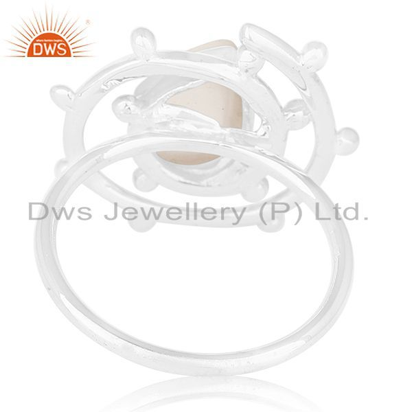 Wholesalers Crystal Quartz 925 Sterling Silver Designer Ring Manufacturer of Custom Jewelry