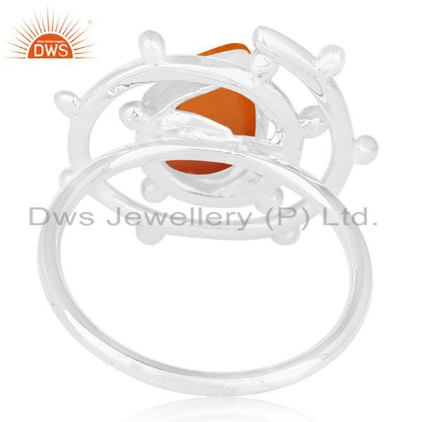 Wholesalers Chalcedony Gemstone Designer 925 Sterling Silver Ring Manufacturers India