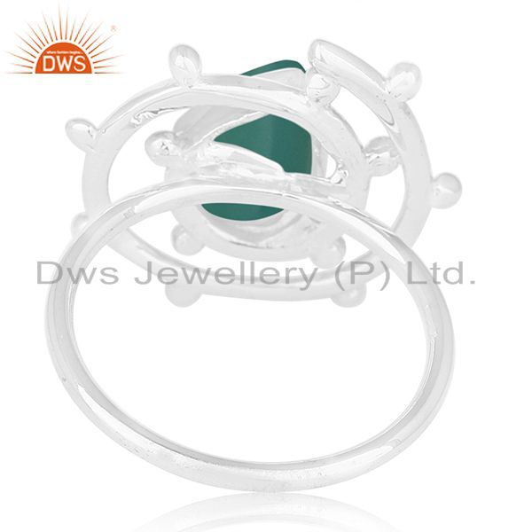 Wholesalers Green Onyx Gemstone 925 Sterling Silver Indian Handmade Ring Manufacturer