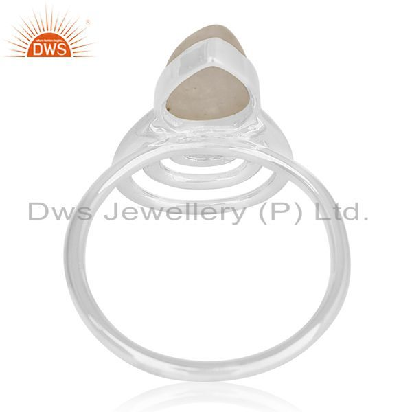 Wholesalers Rainbow Moonstone 925 Silver Private Label Ring Manufacturer Jaipur