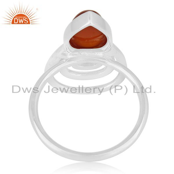 Wholesalers New Designer 925 Silver Chalcedony Gemstone Ring Supplier for Brands