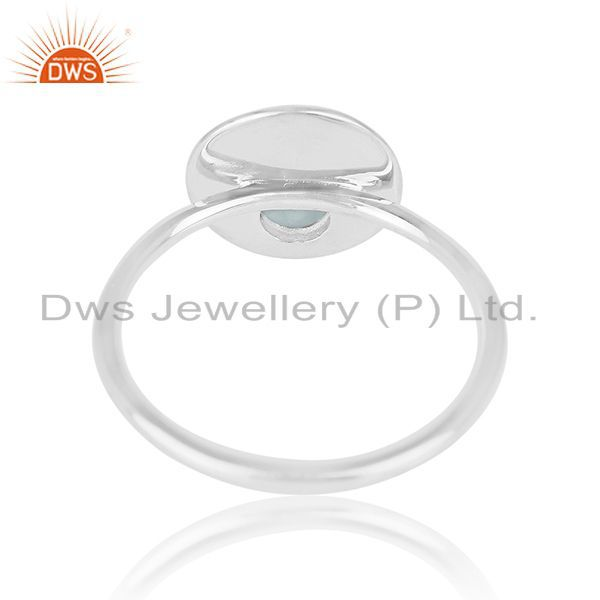 Wholesalers Simple Design 925 Sterling Silver Chalcedony Gemstone Ring Wholesale