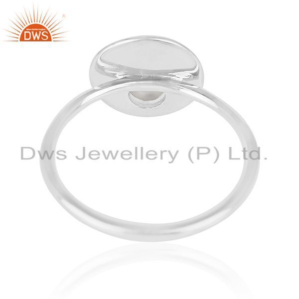 Wholesalers Crystal Quartz 925 Sterling Silver Stackable Ring Jewelry Manufacturer