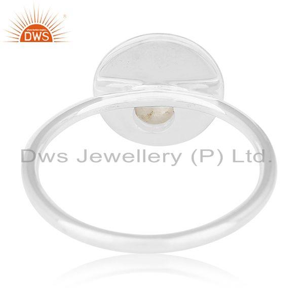 Wholesalers Handmade Sterling Silver Rainbow Moonstone Ring Manufacturers