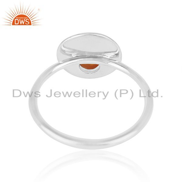 Wholesalers Handmade Fine Sterling Silver Chalcedony Gemstone Ring Manufacturers