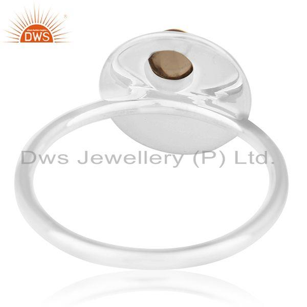 Wholesalers Bezel Set Gemstone 925 Silver Handmade Quartz Ring Wholesale Supplier from India