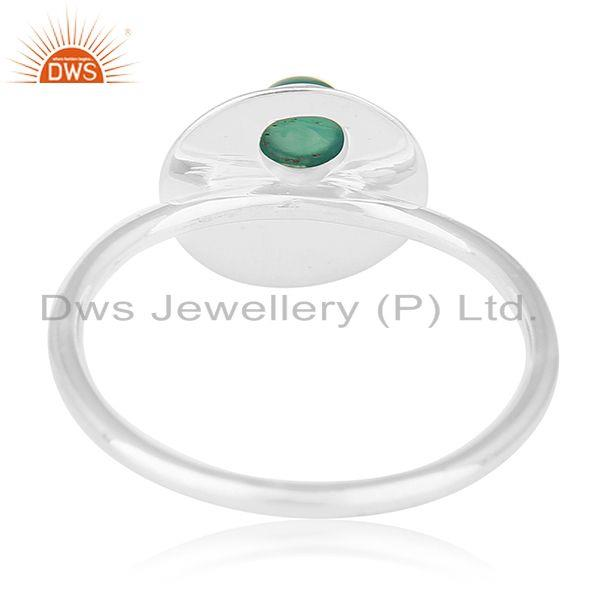 Wholesalers 925 Sterling Silver Green Onyx Gemstone Handmade Ring Jewelry Manufacturers