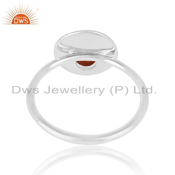 Wholesalers Red Onyx Gemstone 925 Silver Ring Manufacturer of Custom Jewelry