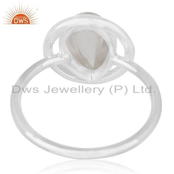 Wholesalers 92.5 Sterling Silver Crystal Quartz Ring Private Label Jewelry India