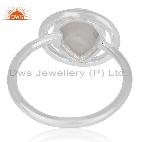 Wholesalers Rainbow Moonstone Sterling Silver Designer Ring Wholesale Jewelry